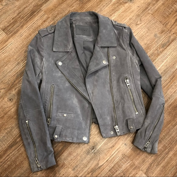 14a23375d8 Blank NYC Jackets & Blazers - Blank NYC Suede Moto Jacket - Small - Light  Gray